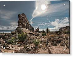 Four Way Clouds Acrylic Print by Gary Zuercher