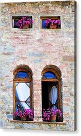 Four Windows Acrylic Print by Marilyn Hunt
