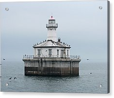 Fourteen Foot Shoal Light  Acrylic Print