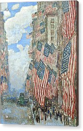 Acrylic Print featuring the painting Fourth Of July, 1916 by Frederick Childe Hassam