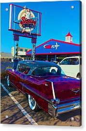 Fourth Of July Classic Car At Skeeters Acrylic Print