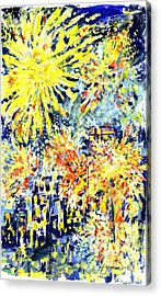 Fourth Of July Acrylic Print by Lily Hymen