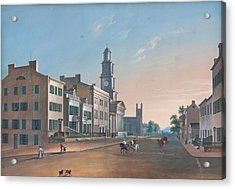 Acrylic Print featuring the painting Fourth Street. West From Vine by John Caspar Wild