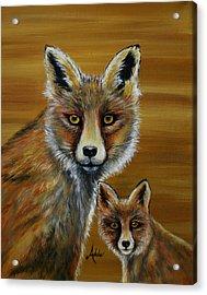 Fox Acrylic Print by Adele Moscaritolo