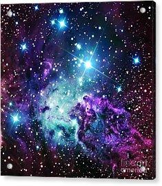 Fox Fur Nebula Purple Teal Galaxy Acrylic Print