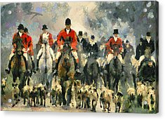 Fox Hunting Acrylic Print