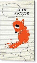 Fox Noos Acrylic Print