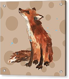Fox Painting Acrylic Print by Alison Fennell