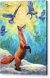 fox Acrylic Print by Sebastian Pierre