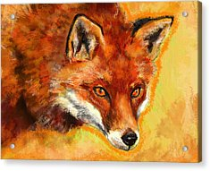 Fox Spirit - Kitsune Acrylic Print by Lakota Phillips