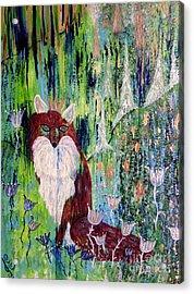 Fox Tale Acrylic Print by Julie Engelhardt