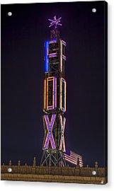 Acrylic Print featuring the photograph Fox Theatre Detroit by Nicholas  Grunas