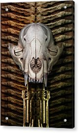 Fox Totem Acrylic Print by WB Johnston