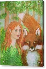Foxy Faery Acrylic Print