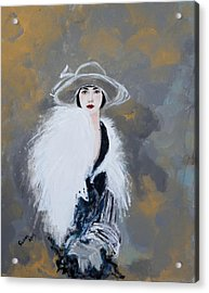 Foxy Lady Acrylic Print by Susan Adams