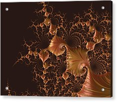 Acrylic Print featuring the digital art Fractal Alchemy by Susan Maxwell Schmidt