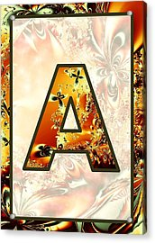 Fractal - Alphabet - A Is For Abstract Acrylic Print