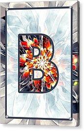 Fractal - Alphabet - B Is For Beauty Acrylic Print