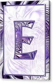 Fractal - Alphabet - E Is For Elegance Acrylic Print by Anastasiya Malakhova