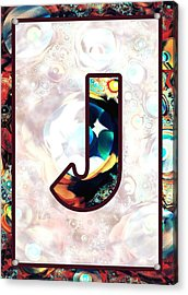 Fractal - Alphabet - J Is For Jewelry Acrylic Print by Anastasiya Malakhova