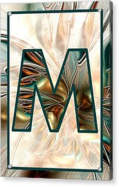Fractal - Alphabet - M Is For Magic Acrylic Print