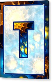 Fractal - Alphabet - T Is For Thoughts Acrylic Print by Anastasiya Malakhova