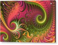 Fractal Ameba Acrylic Print by Digital Art Cafe