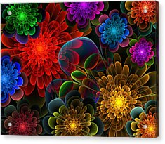 Fractal Bouquet Acrylic Print by Lyle Hatch