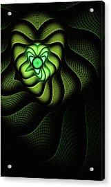 Fractal Cobra Acrylic Print by John Edwards