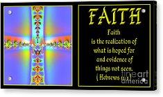 Fractal Faith Hebrews 11 Acrylic Print by Rose Santuci-Sofranko