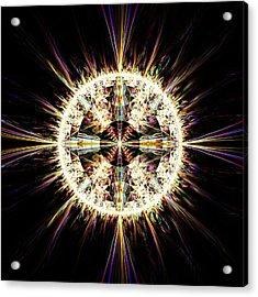 Acrylic Print featuring the digital art Fractal Jewel by Bee-Bee Deigner