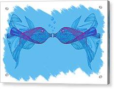 Fractal Kissing Fish Acrylic Print
