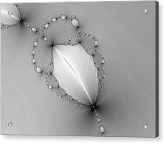 Fractal Leaf Acrylic Print
