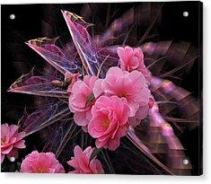 Fractal Meets Camellia  Acrylic Print