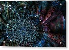 Fractal Moons Acrylic Print by Digital Art Cafe