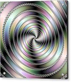 Fractal Op Art Hypnotizing Spiral Acrylic Print by Matthias Hauser