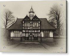 Fractal Pavilion Acrylic Print by David J Knight