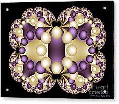 Acrylic Print featuring the digital art Fractal Pearls by Sandra Bauser Digital Art