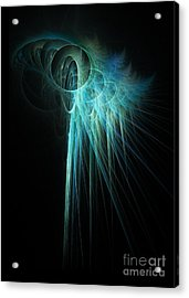 Fractal Rays Acrylic Print by John Edwards