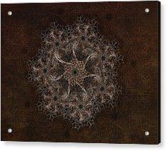 Fractal Tapestry Acrylic Print by AGeekonaBike Fine
