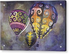 Acrylic Print featuring the photograph Fractal Trio by Melinda Ledsome