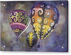 Fractal Trio Acrylic Print by Melinda Ledsome