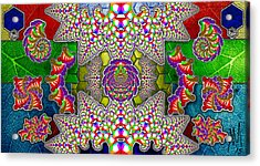 Fractaleaf Acrylic Print by Andrew Murray