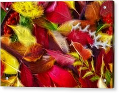 Acrylic Print featuring the photograph Fractalius Leaves by Shane Bechler