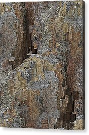 Fracture Frenzy Acrylic Print by Tim Allen