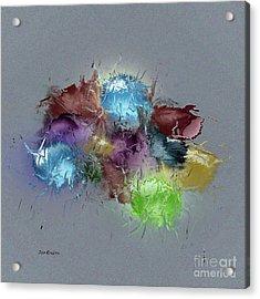 Acrylic Print featuring the digital art Fractured Bouqet 1 Pc by John Krakora