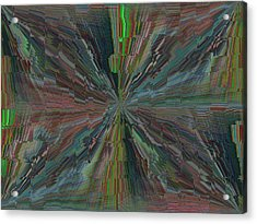 Fractured Frenzy Acrylic Print by Tim Allen