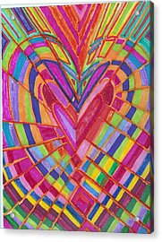 Fractured Heart Acrylic Print by Brenda Adams