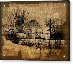 Fragmented Barn  Acrylic Print