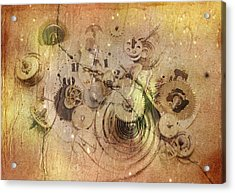 Fragmented Time Acrylic Print by Michal Boubin
